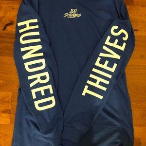 100 thieves royalty blue long sleeve NWT Medium